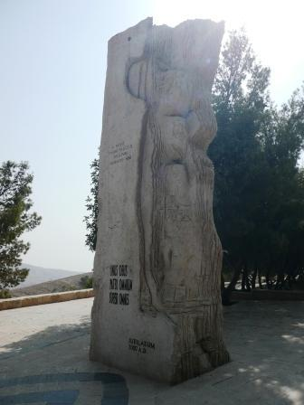 Statue at Mt Nebo unveiled by Pope John Paul II