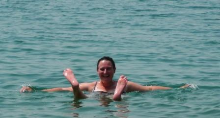 Just floating around on the Dead Sea