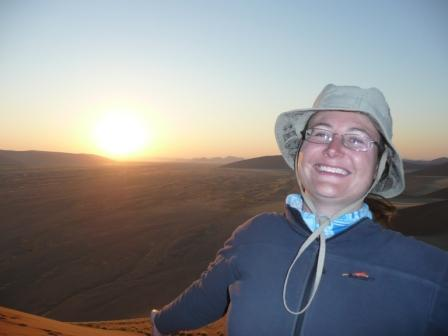 Sunrise over the Namib Desert