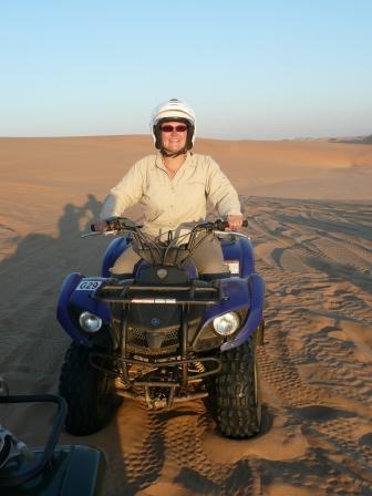 Taking on the Namibian dunes