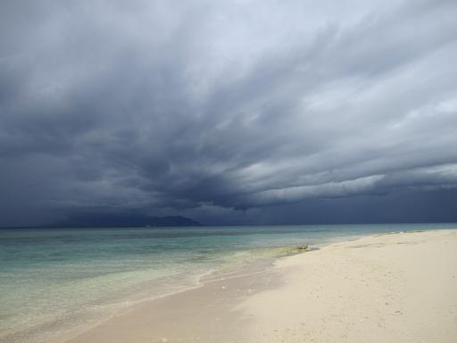 Stormy Skies Over South Sea Island
