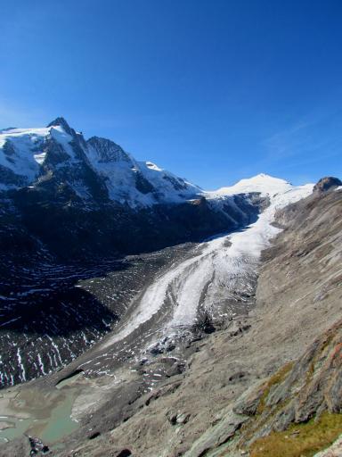 the receding glacier
