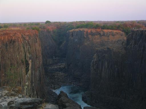 Uitzicht bij de Vic falls