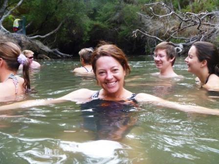 Natural hot river