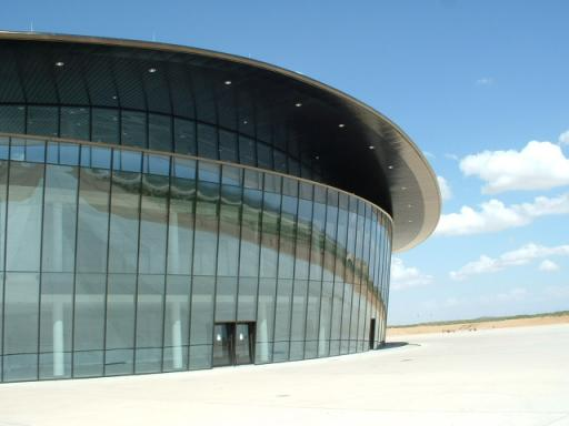 Spaceport Main Building Reflecting the Ramp