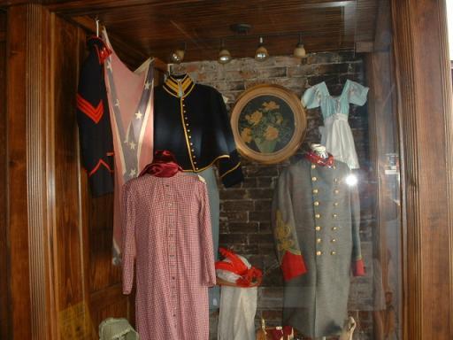 Civil War Uniforms in Van Buren Storefront