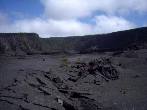Aufgebrochene Lava