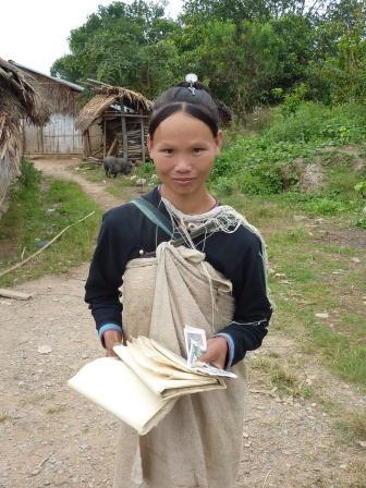 Lenten woman who made some bamboo paper I bought