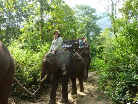 Me and Chom Seng (note the mahout's not there)