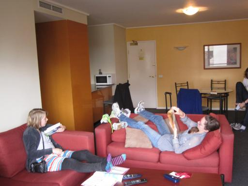 Lily And Mel Resting Up, Paramount Apartments. «