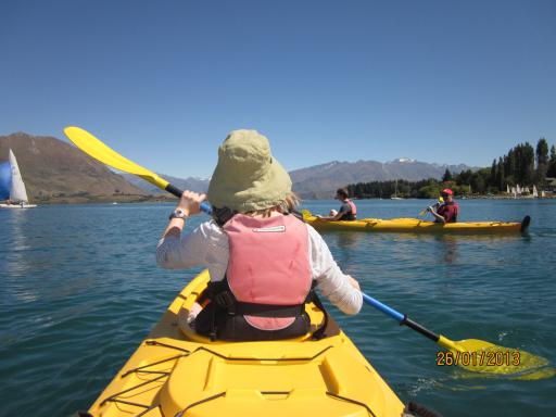 kayaking on beautiful Lake Wanaka