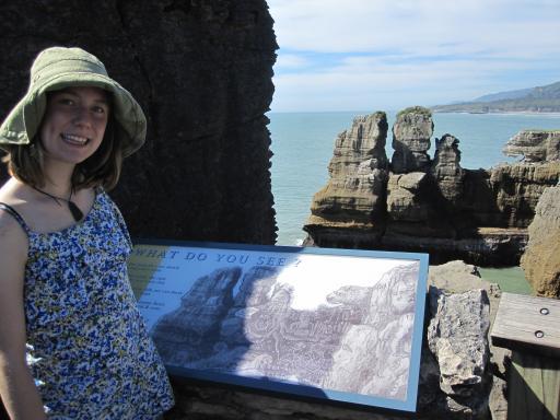 """Pancake Rocks"" on the west coast"