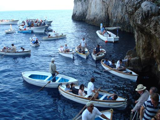 The Entrance To The Blue Grotto To Italy Again