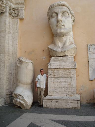 the giant marble head of emperor constantine