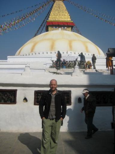 au pied de la Stupa