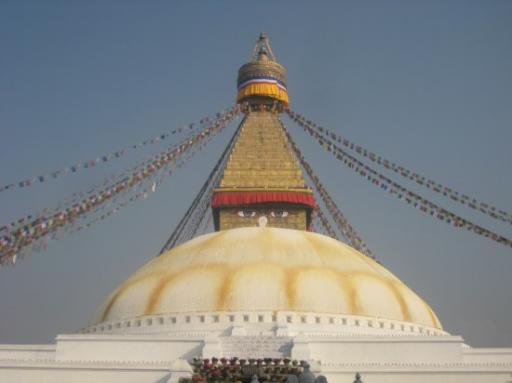 Stupa du temple Boudhiste de Boudanath