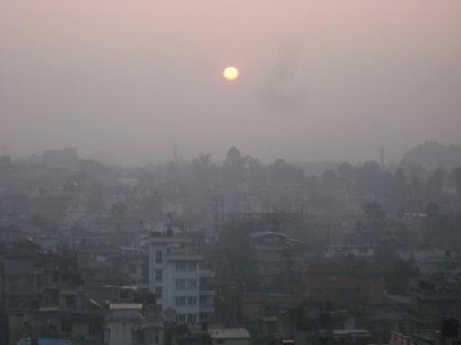 Lever de soleil sur Kathmandu