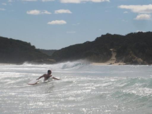 Surf spot on Nelson Beach