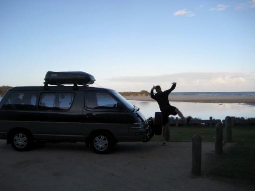 Dave sur la plage de Mallacoota