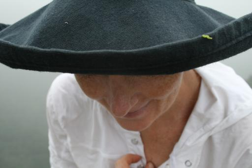 Worm on Debbies Hat