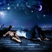 lying-on-a-rooftop-under-the-starry-sky