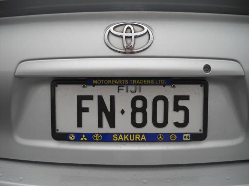 Fiji License Plate Australia 2010