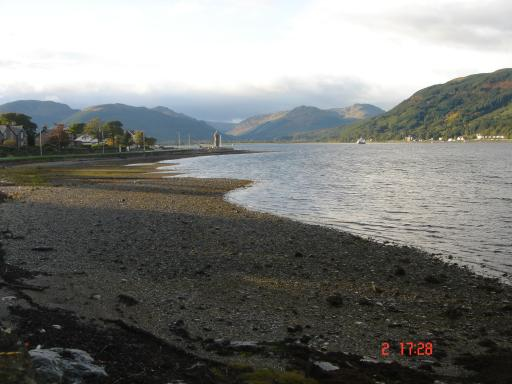 view heading North from Dunoon