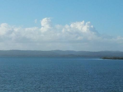 Fraser Island boat view on ferry trip