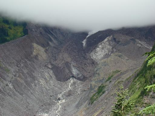 Brown glacier on Mt Rainer