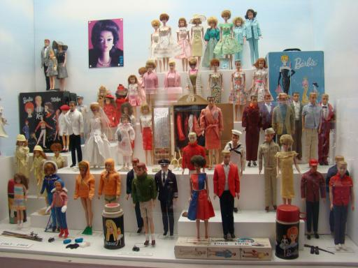 Barbies on display