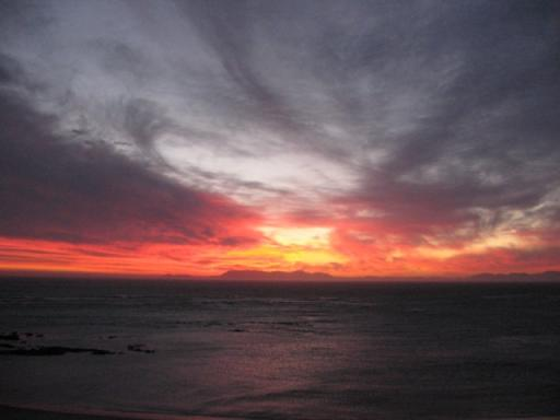 0811 003, zonsondergang