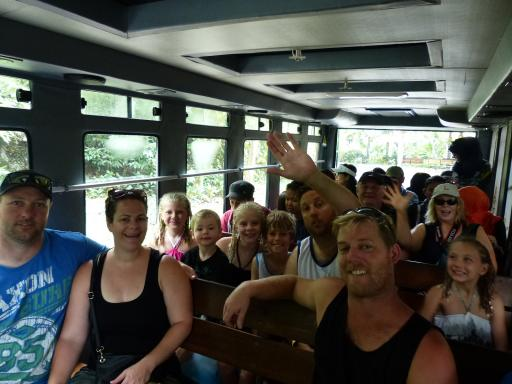 The gang on the Safari Park Bus