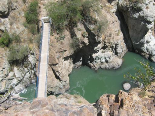 Fluss von oben