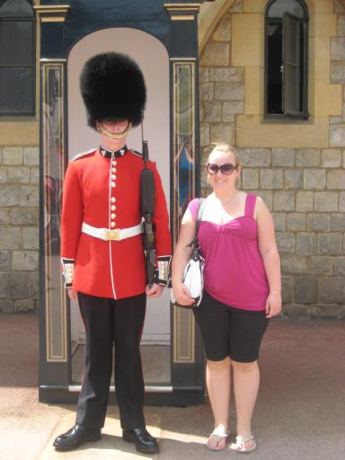 Me with Guard at Winsdor Castle