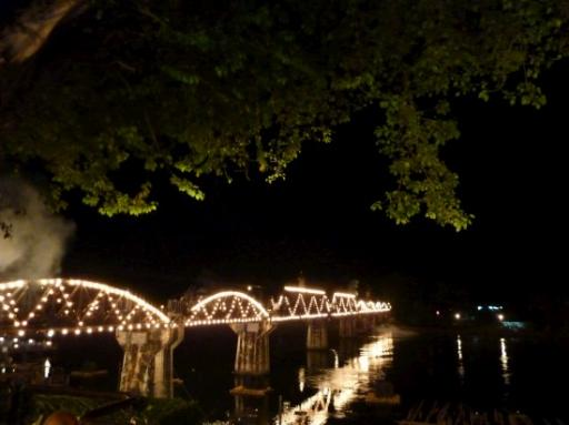 The famous(or infamous) bridge over the River Kwai