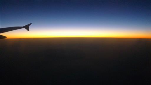 Sunset Glow from the Airplane