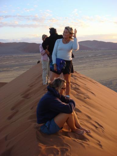 Namibia sand dooms at daybreak