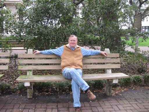 Kenneth Forrest Gump Sitting On Park Bench Touching All The Bases